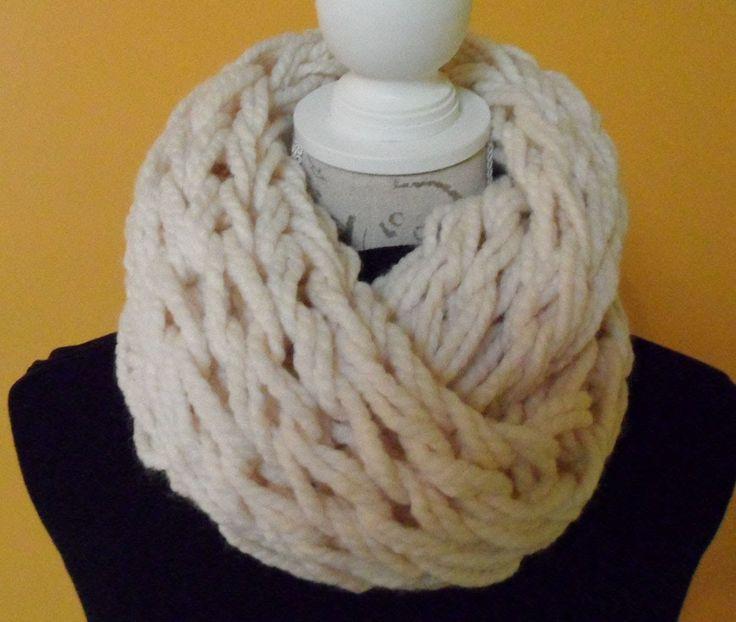 sjaal breien met je armen