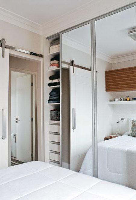 Truques para o pequeno quarto de casal com guarda-roupa. (Parte 2)