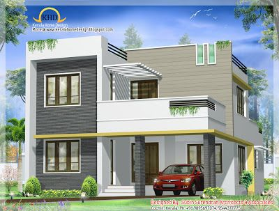 Beautiful Contemporary Villa design - 163 Sq M (1750 Sq. Ft) - January 2012