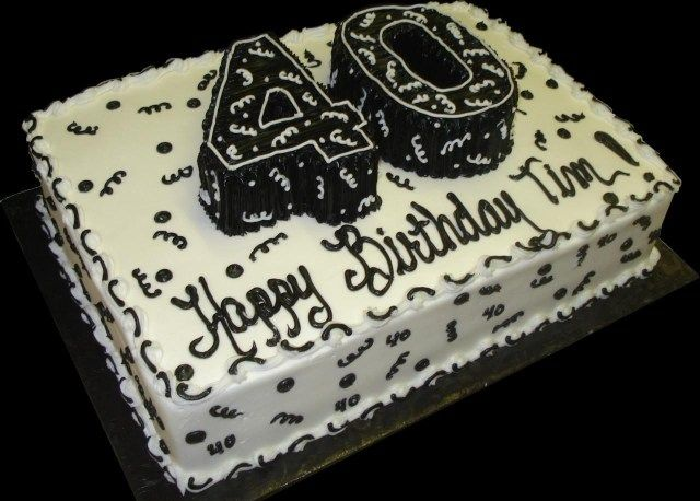 26+ Hübsches Foto von fabelhaften 40. Geburtstagstorten. Fabelhafte Kuchen zum 40. Geburtstag …   – birthday cake diy