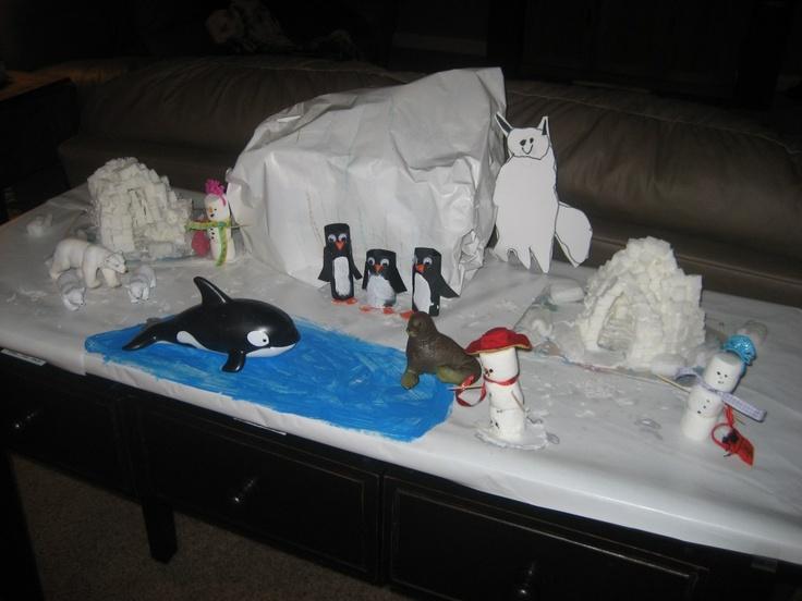 build winter habitats in your living room toilet paper tube penguins homeschool pinterest. Black Bedroom Furniture Sets. Home Design Ideas