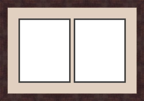 art to frames double multimat 604 78289 frbw26061 collage frame photo mat double mat with 2 8x10 openings and espresso frame fun stuff pinterest d