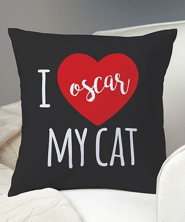 aturally cat wall art is super popular and trendy as cat lovers are everywhere.  Therefore cat wall art provides an unlimited potential to create a cat decor inspired home.  You can use other cat home decor such as cat throw pillows and cat throw blankets as accents  Showcase your love for your cat with this personalized throw pillow that makes a charming accent to your home décor.'I Love My Cat' Personalized Throw Pillow