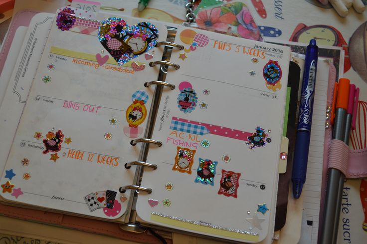 week 2 fresh filofax planner 2016
