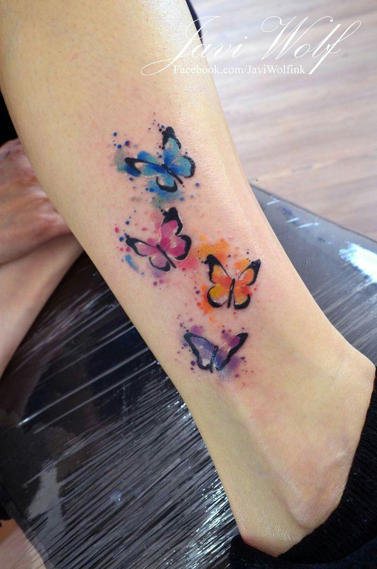 Javi Wolf: watercolor butterflies ❤