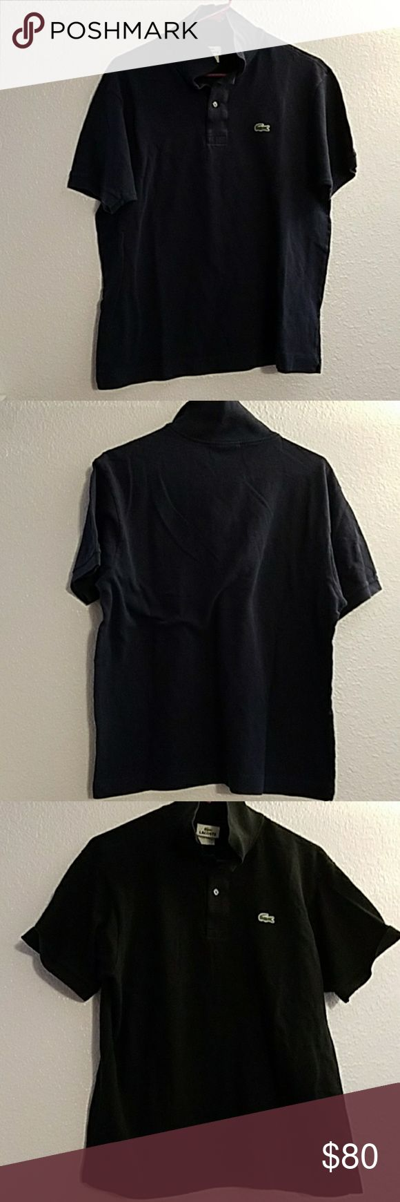 Lacoste Polo Shirts (Set of 2) Good Condition, Set of Navy and Black Lacoste Shirts Polos