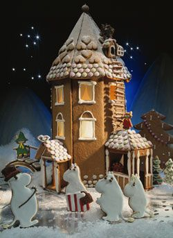 Moomin gingerbread house//