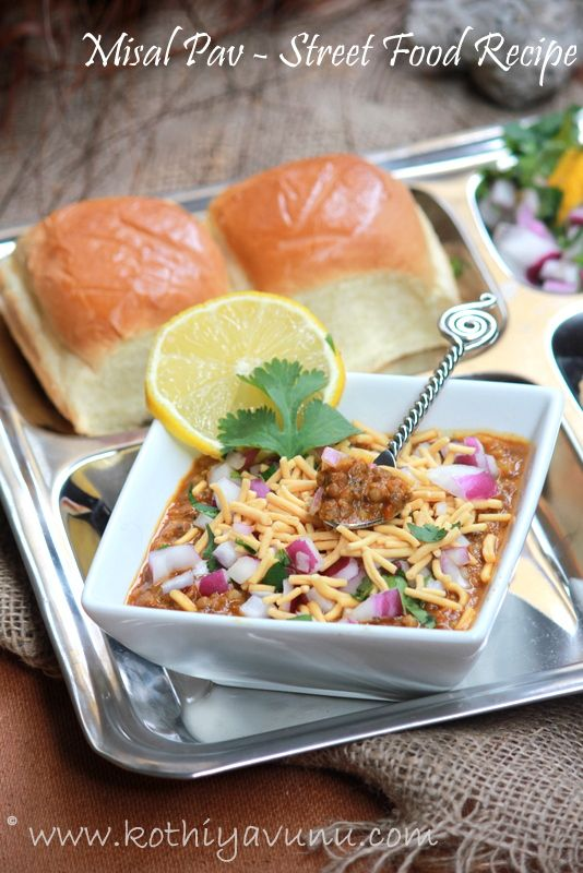 Misal Pav - #Indian Street Food Recipe - #Vegetarian