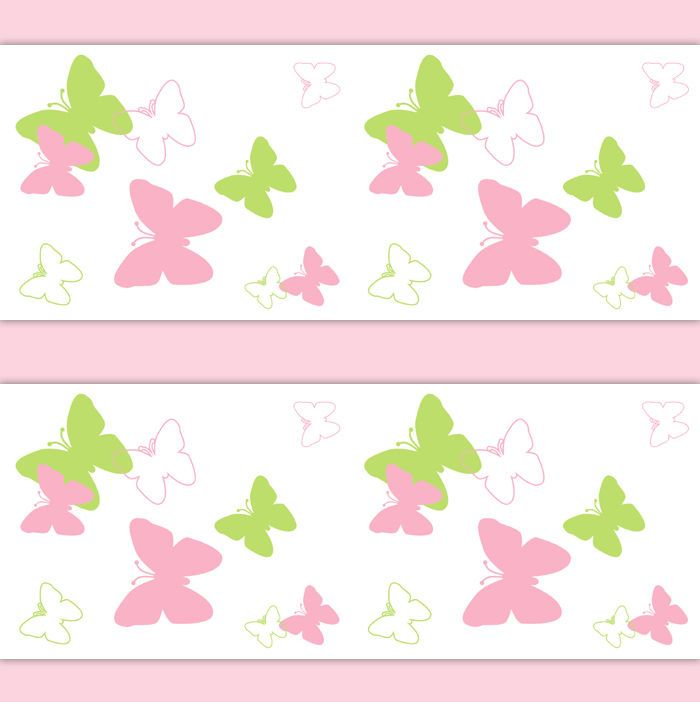 Butterfly Wings Nursery Decor Wallpaper Border Decal Wall Art Pink Girl  Stickers Part 81