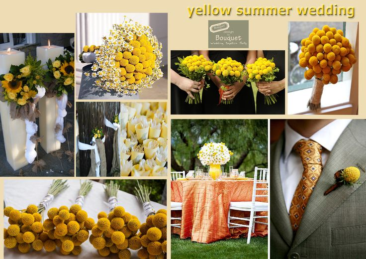 Yellow for a summer wedding.