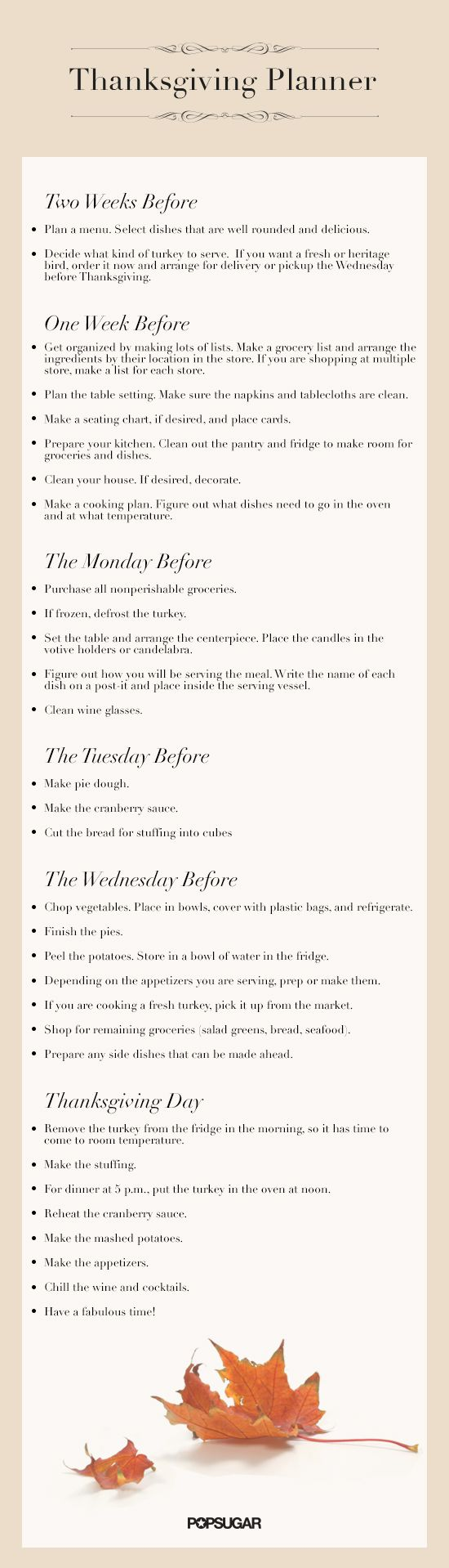 Your Official Thanksgiving Cheat Sheet @Ashley Redmon