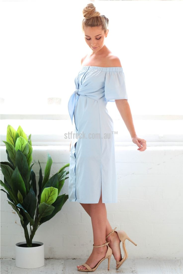 Catalina Dress in Sky Blue | St. Frock
