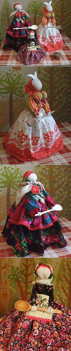Русская тряпичная кукла. Кукла -оберег на кухню. Ссылка.Идеи.