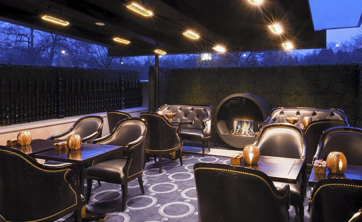 Crystal Bar Outdoor Terrace at The Wellesley Hotel in London @Fox Linton Associates