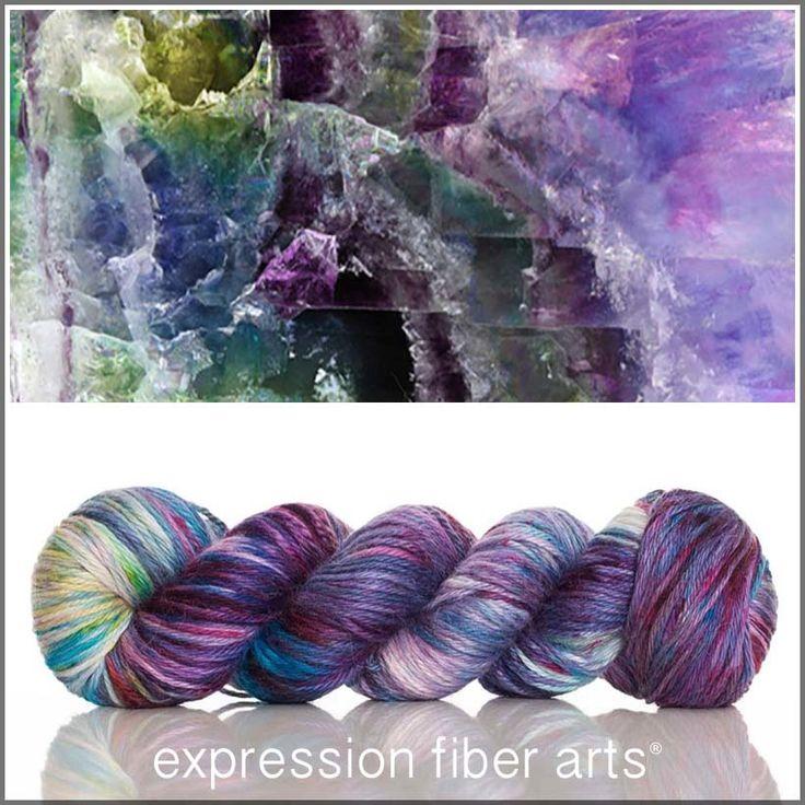 FLUORITE ALPACA SILK DK yarn by expression fiber arts