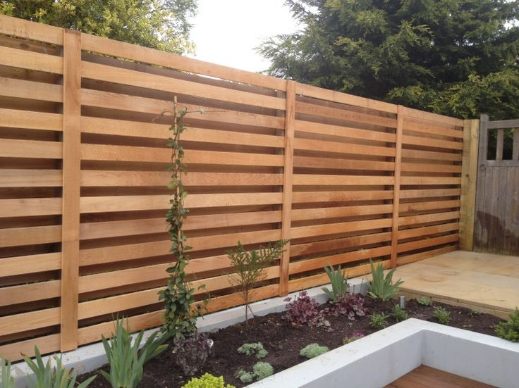 contemporary cedar fence trellis - Google Search