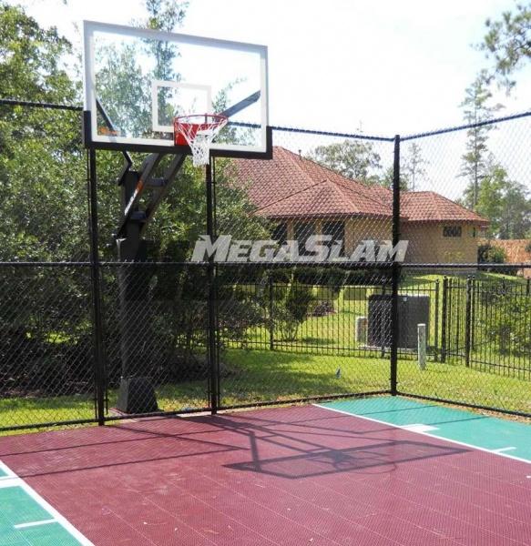 40 best sport court images on pinterest backyard for Sport court basketball hoop