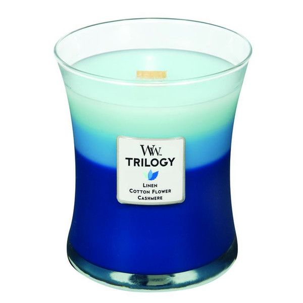 WoodWick Trilogy Clothesline Fresh Scented Candle – Just Scented Candles