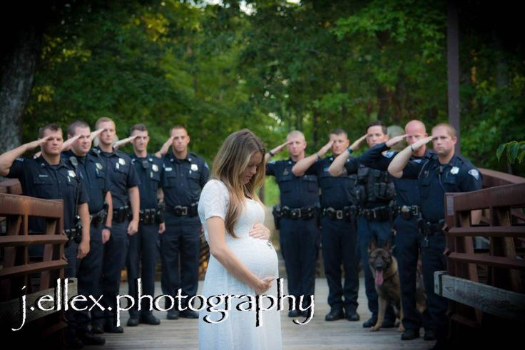 She lost her husband prior to her baby being born and his fellow officers came to honor him. There is nothing like a cop family