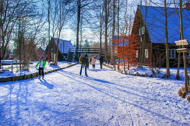 Winter in the Spreewald #Brandenburg #Germany #Ice skating #Spreewald #Winter