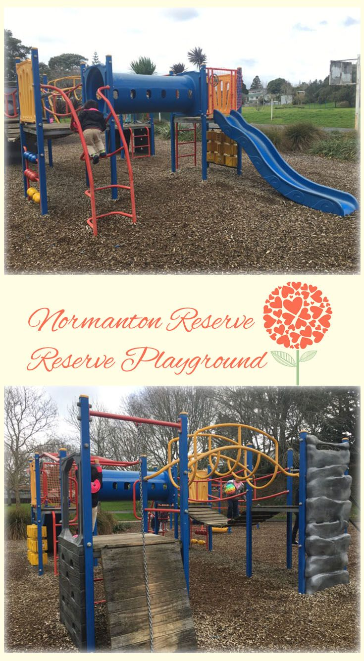 Normanton Reserve Playground Auckland: Great Old Style Playground with Lots of Fun Equipments. The Beautiful Reserve has Basketball Courts and Bike Tracks!