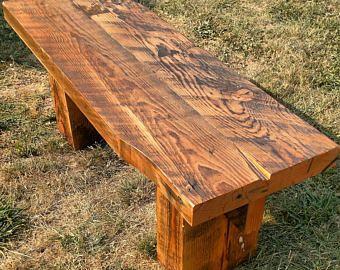 Banco de madera rústico, recuperada