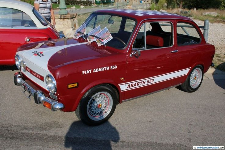 Fiat Abarth 850. As seen at the October 2015 Cars and Coffee show in Austin TX USA.