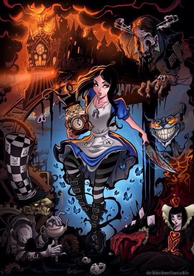Alice in Wonderland like Tim burton sexy horror