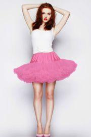 Deze roze petticoat is ook zeer geschikt voor carnaval.