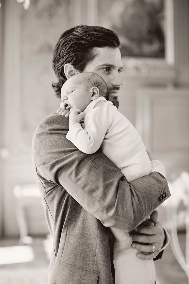 Father and Son new photo of  Prince Carl Philip and baby Prince Alexander of Sweden