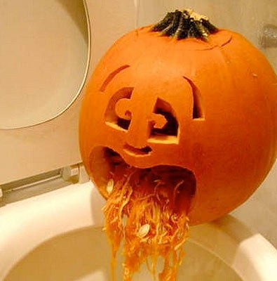 49 best funny pumpkins halloween decorations images on pinterest creative creative ideas - Extraordinary accessories for halloween decoration with pumpkin eating another pumpkin carving ...