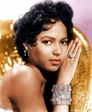 This is such a CLASSIC photo! FABulous! :Dorothy Dandridge from Cleveland, Ohio,  sang at Harlem's Cotton Club and Apollo Theatre and became the first African-American woman to be nominated for an Academy Award for best actress. Many years passed before the mainstream entertainment industry acknowledged Dandridge's legacy and later portrayed in 1999 by Halle Berry in 'Introducing Dorothy Dandridge'.