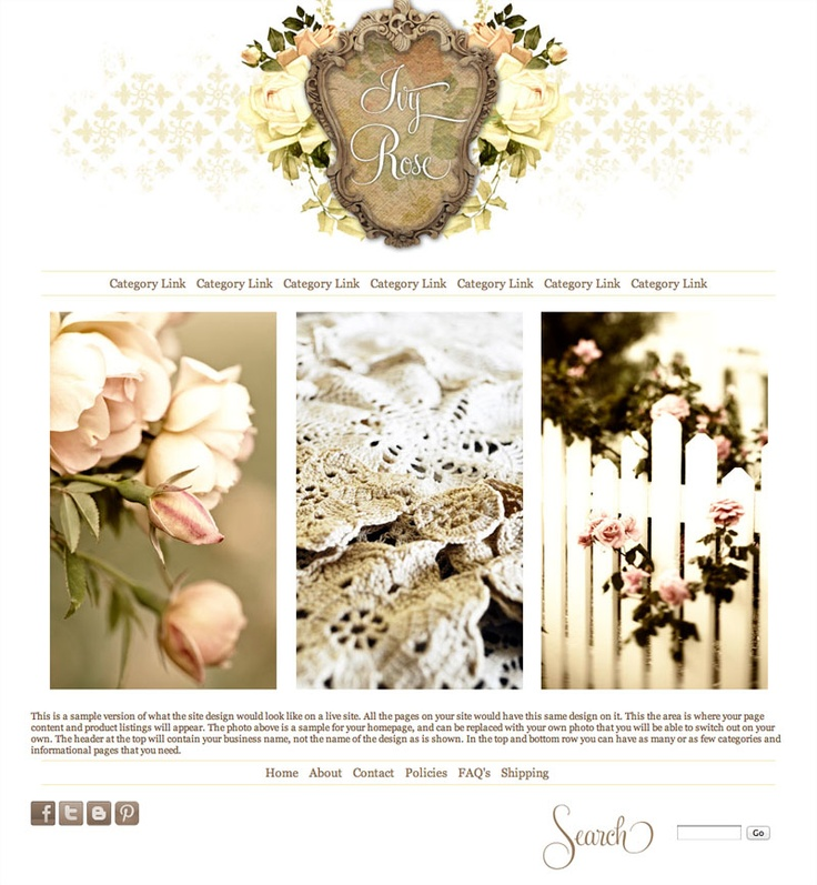 Ivy Rose Vintage Website Template