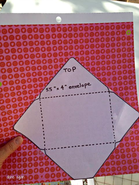 Scrapbook paper envelops