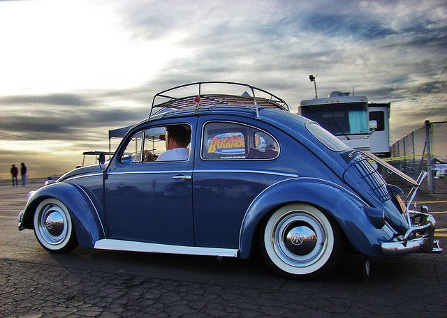 Old school mild-mannered but sure-footed, floatable, stick-shifting geared VW stick-shifting Beetle