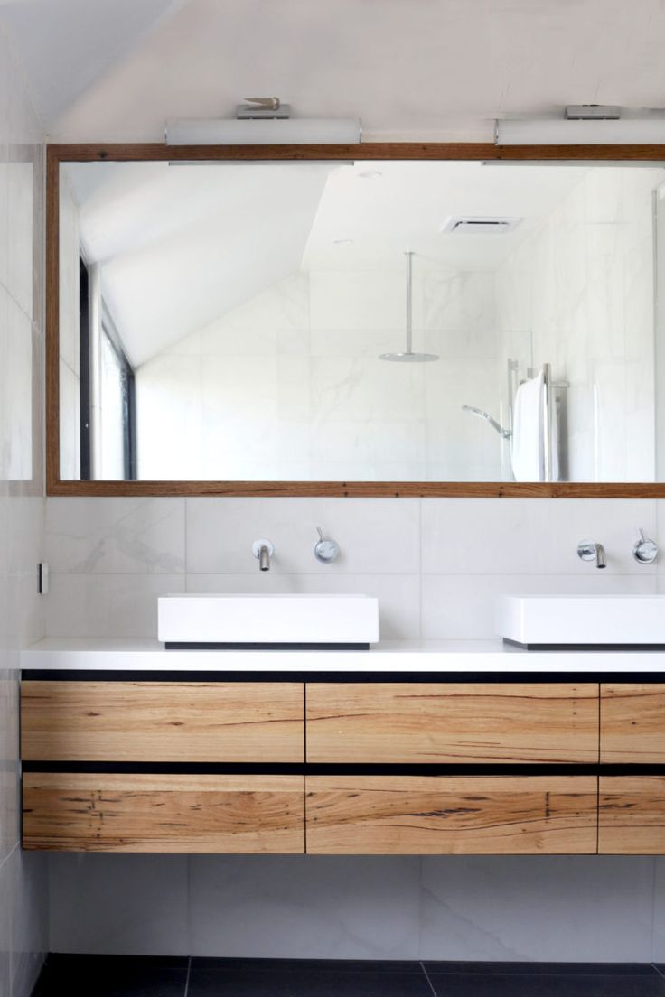 Why timber vanities can cope with your wet bathroom - The Interiors Addict