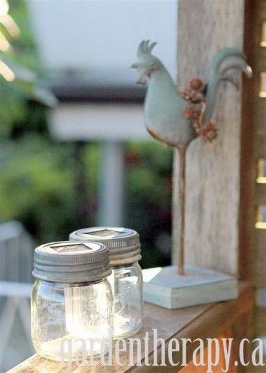 Mason Jar Solar Light Project left out in sun to charge