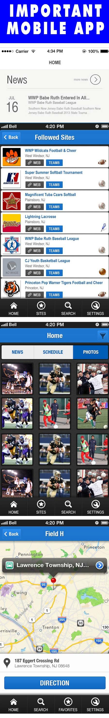 The My LeagueLineup app links to your LeagueLineup account to bring you the latest News, Schedules, and Photos from your selected LeagueLineup sites.
