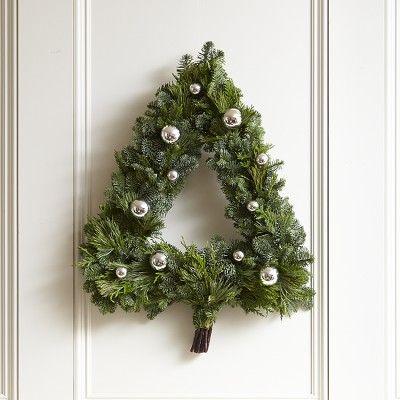 Christmas Tree Wreath #williamssonoma
