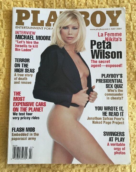 PLAYBOY MAGAZINE PETA WILSON JULY 2004    eBay