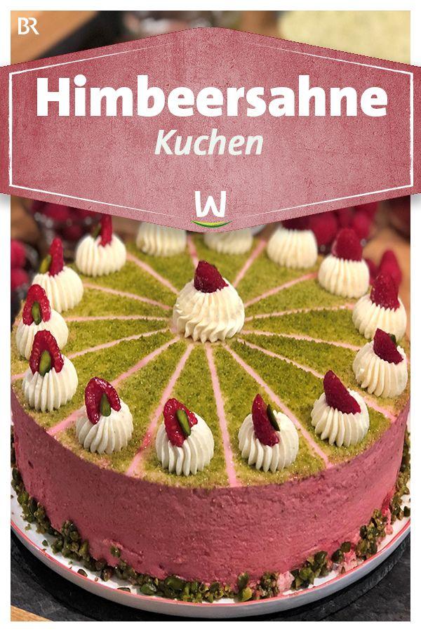 Wir In Bayern Rezepte Himbeersahne Mit Pistazienboden Br De Himbeersahne Obsttorte Rezept Himbeeren