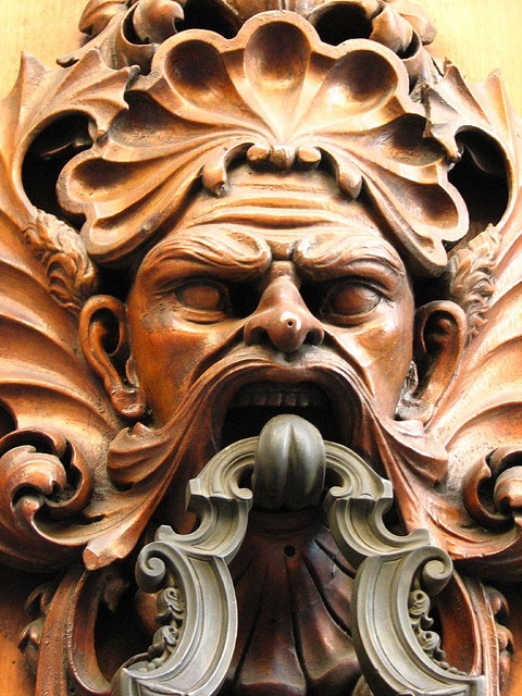 Door Knocker in Florence ~ Scary!!