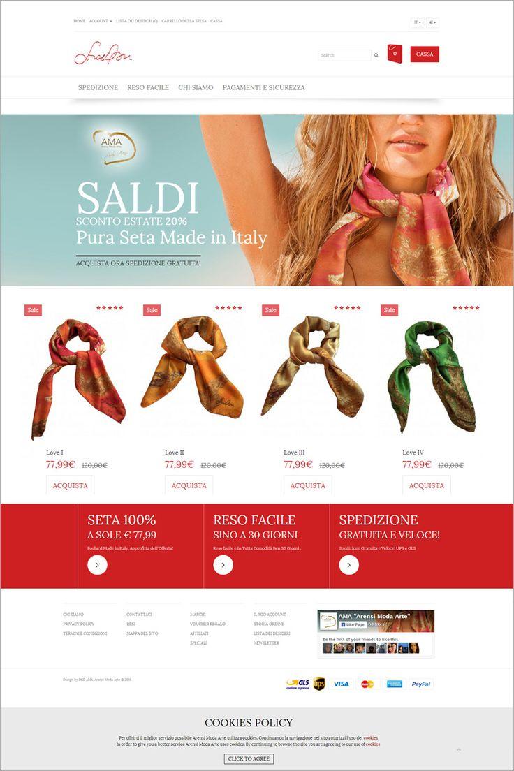 www.foulard-seta.com visita l' #ecommerce  AMA di Sarah Arensi, #foulard di #seta pura a Km 0, i cui motivi grafici sono tratti dalle opere pittoriche dell' artista! Un vero #quadro da #indossare