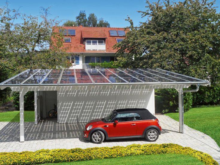 Terrassendächer und Carportsysteme mit Solarmodulen