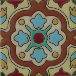 High relief tile 'Nataly' from Mexico is ideal for any indoor outdoor decor project. Use relief tile alone or combine them into creative mosaics. High relief tile dimensions are 3x3, 4x4 and 6x6 #myMexicanTile