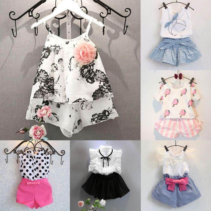 2PCS bebê crianças meninas Roupas De Verão Bebê Top Camisa + calça conjunto de roupas Shorts | Roupas, calçados e acessórios, Roupas para bebês e crianças pequenas, Roupas para meninas (recém-nascida a 5T) | eBay!