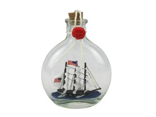 Uss Consution Model Ship In A Gl Bottle 4