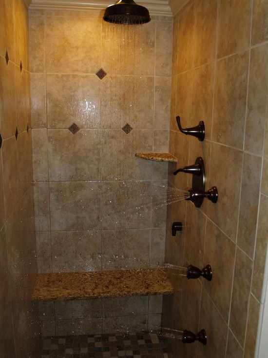 Bathroom Shower Head Ideas : Shower head anyone mediterranean bathroom bench