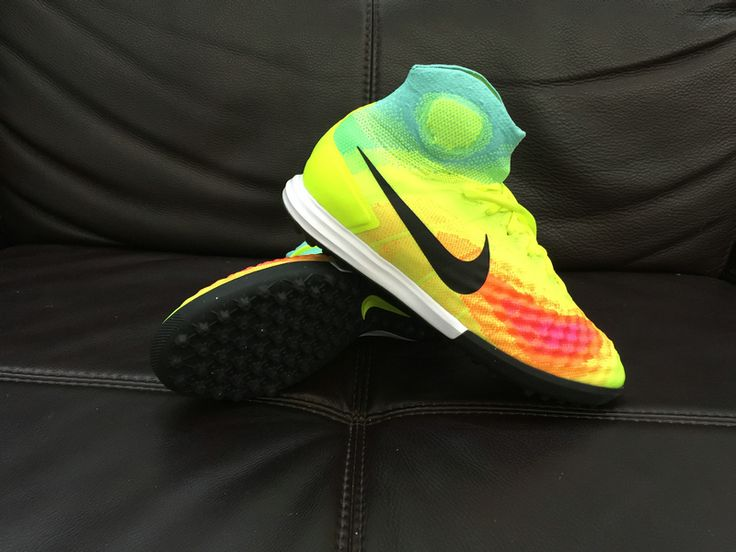 Nike Magista Obra II TF - Volt/Black/Total Orange The new Nike MagistaX  Proximo II boots introduced with an utterly bold paint job that combines a  Volt base ...
