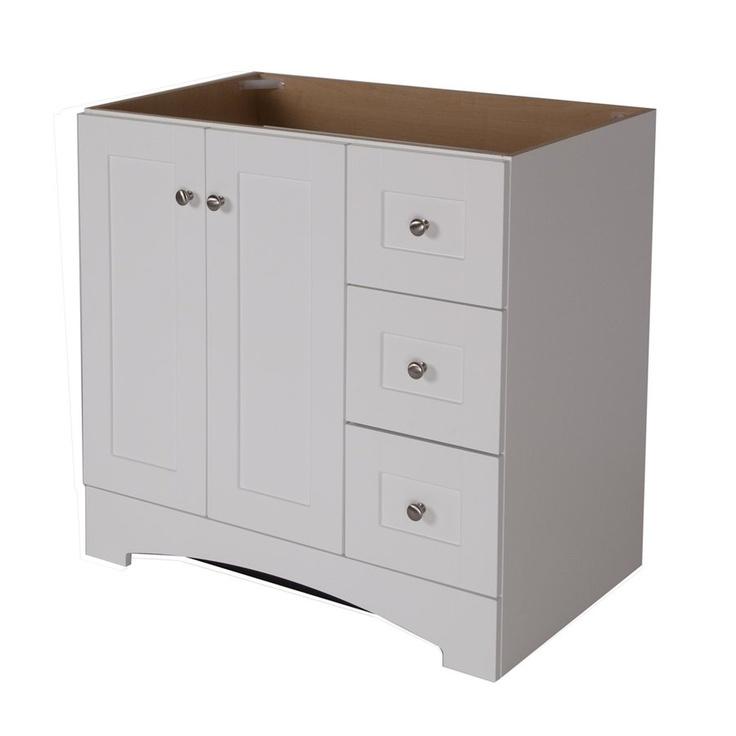 Allen roth sh3621sd w 36 in white sarasota contemporary bath vanity - Allen roth bath cabinets ...